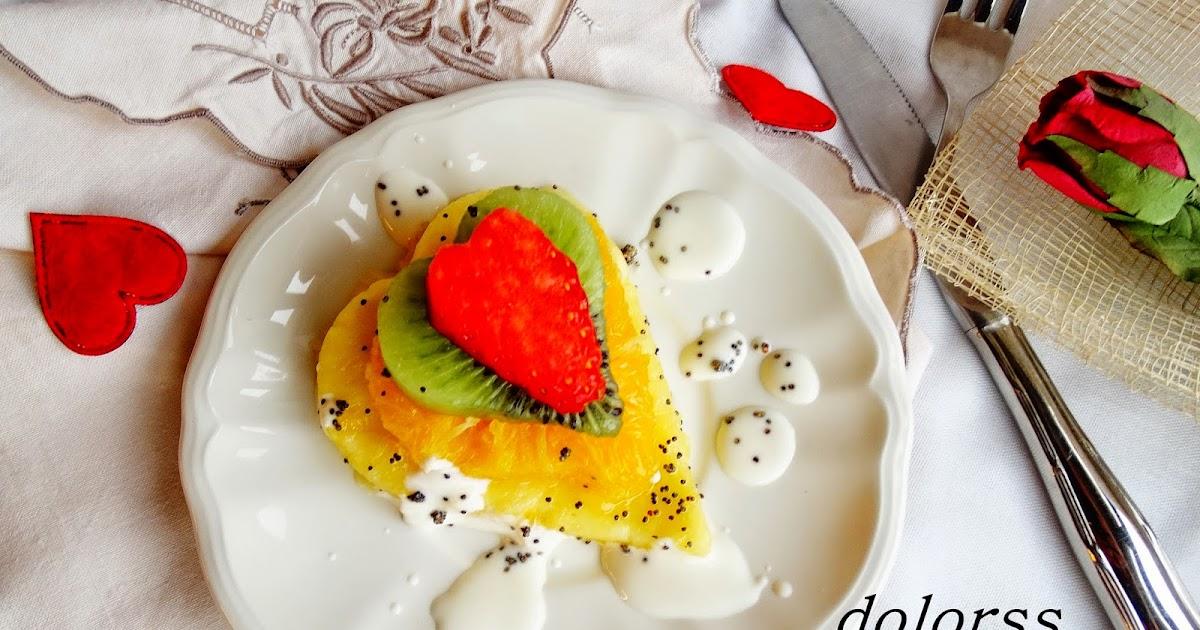Blog de cuina de la dolorss: Corazones de fruta con yogur a la naranja