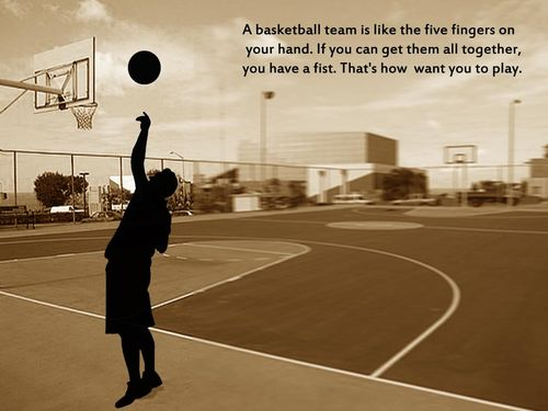 A basketball team is like the five fingers ~ Best Quotes 365