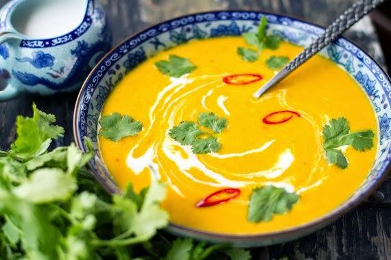 Тыквенный суп-пюре с зеленью