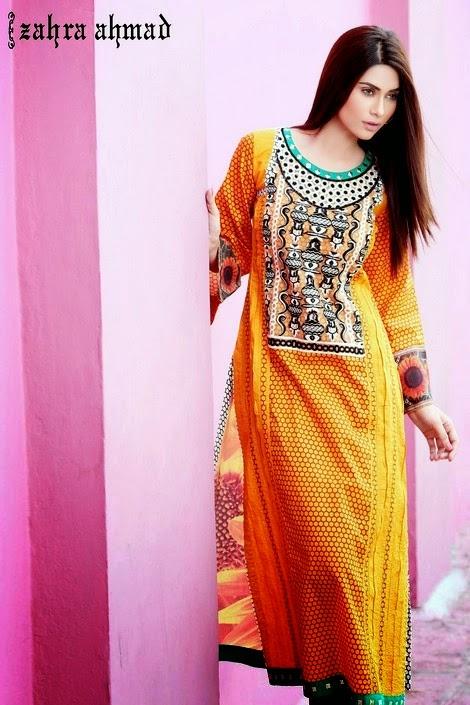 Zahra Ahmad Summer Dresses 2014