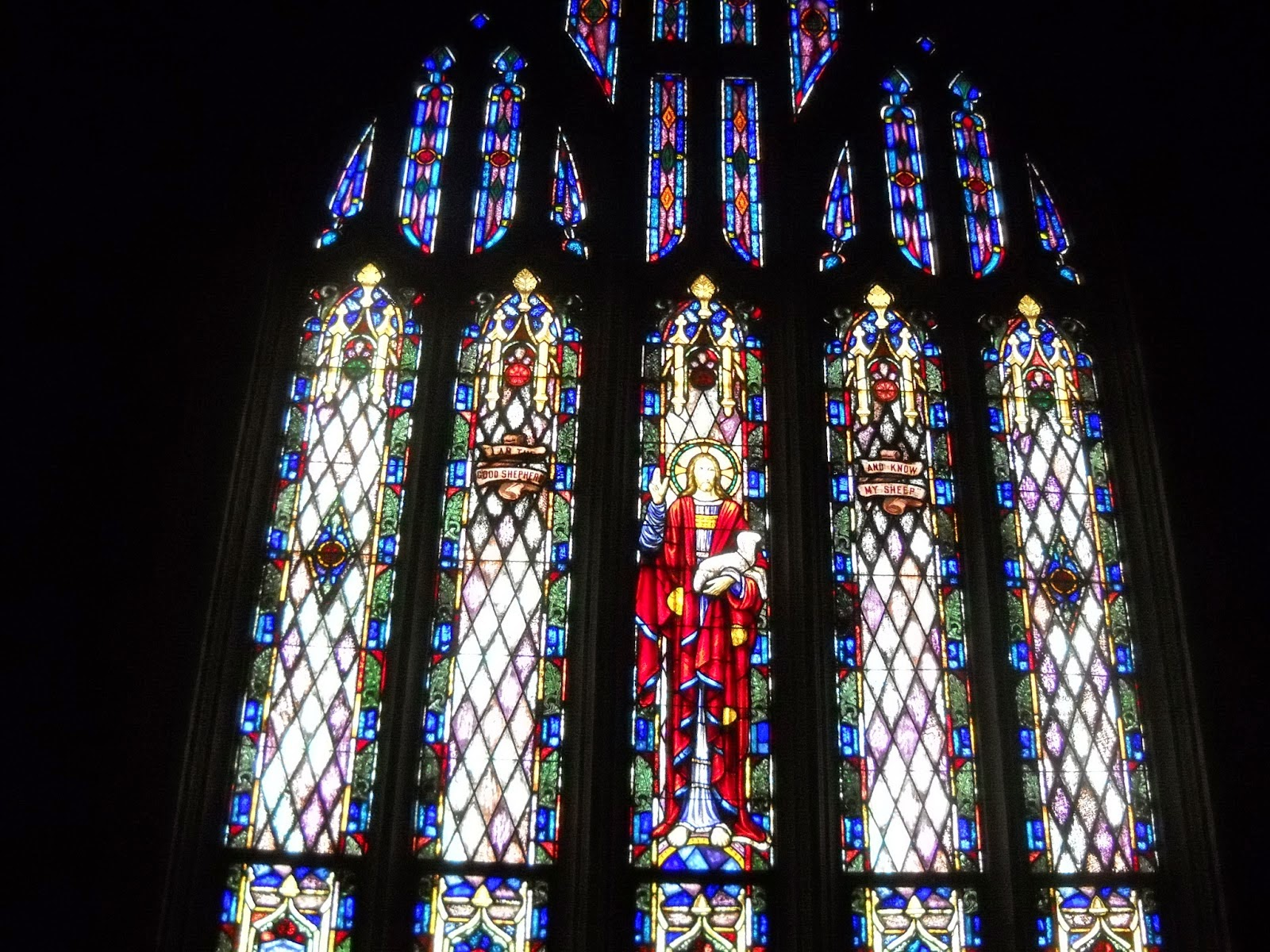 Be sure and visit our lovely stained glass sanctuary