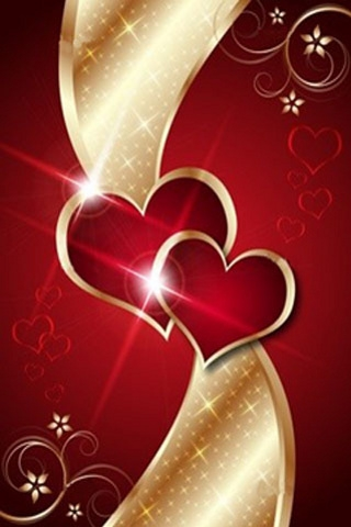 Red Heart Love Cell Phone Wallpaper Download