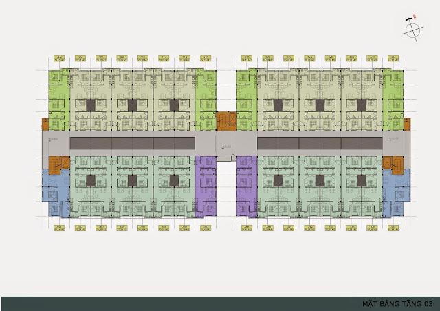 Mặt bằng tầng 3 - 4 - 5- 6 chung cư Thanh Hà Cienco 5