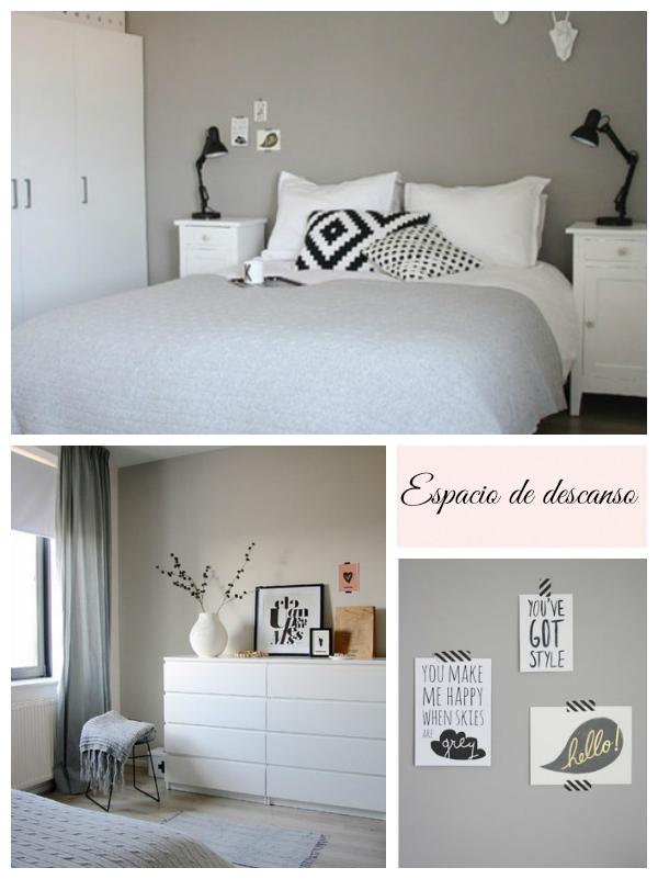 C mo aportar calidez a un espacio en blanco y gris la - Habitacion gris y blanca ...