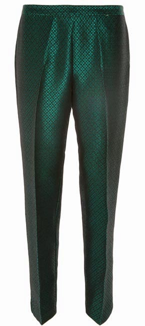 Pantalones metalizados en verde de Primark para mujer
