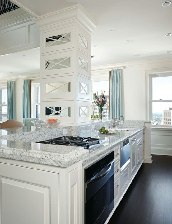 The granite gurus whiteout wednesday 5 white kitchens for White kitchen cabinets with white marble countertops