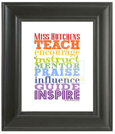 Teach Art Print