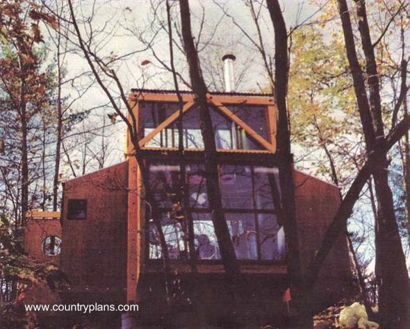 Cabaña sujeta con bulones por autoconstrucción en Estados Unidos
