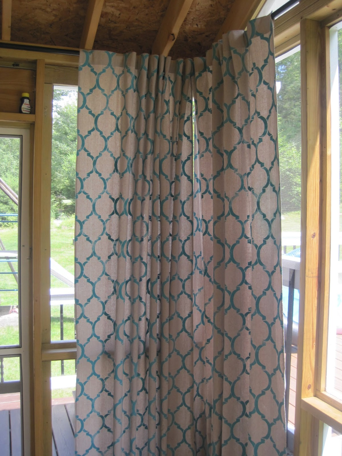 All Things Beautiful Diy Painter 39 S Drop Cloth Curtain Panels For Screen Room Patio