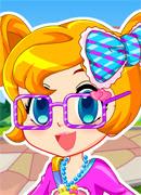 Цветная девочка - Онлайн игра для девочек