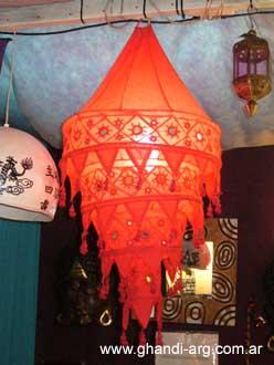 Ropa y artesania de la india lamparas de tela - Lamparas de la india ...