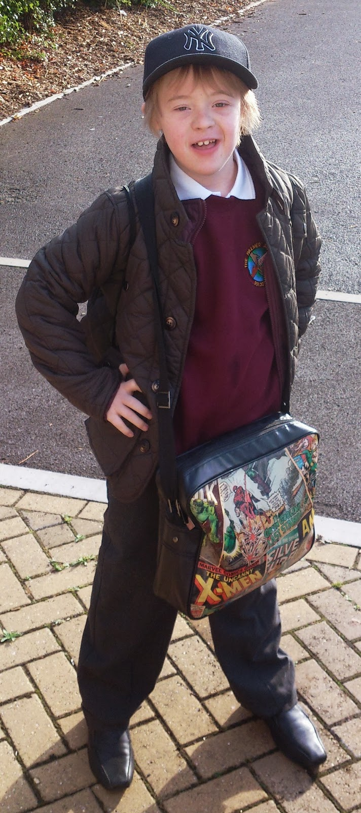 Kyd, School, Mainstream, Down Syndrome, Marvel Bag, my life my son my way,
