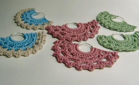 DE MIS MANOS TEJIDOS Y MAS...: Lindos aretes a crochet