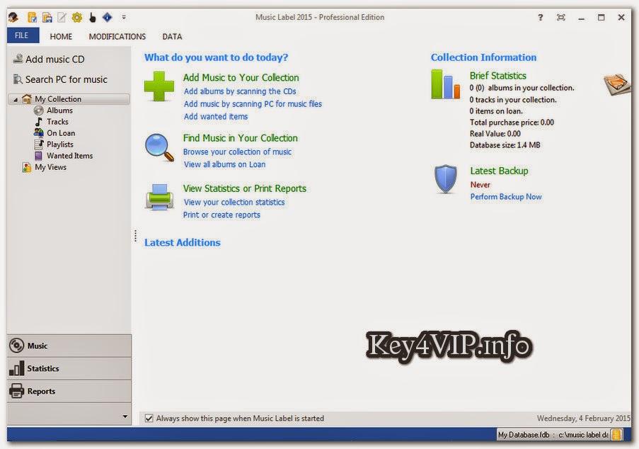 Music Label 2015.Professional.21.0.build.3106 Full Key,Phần mềm xử lý và thống kê file nhạc