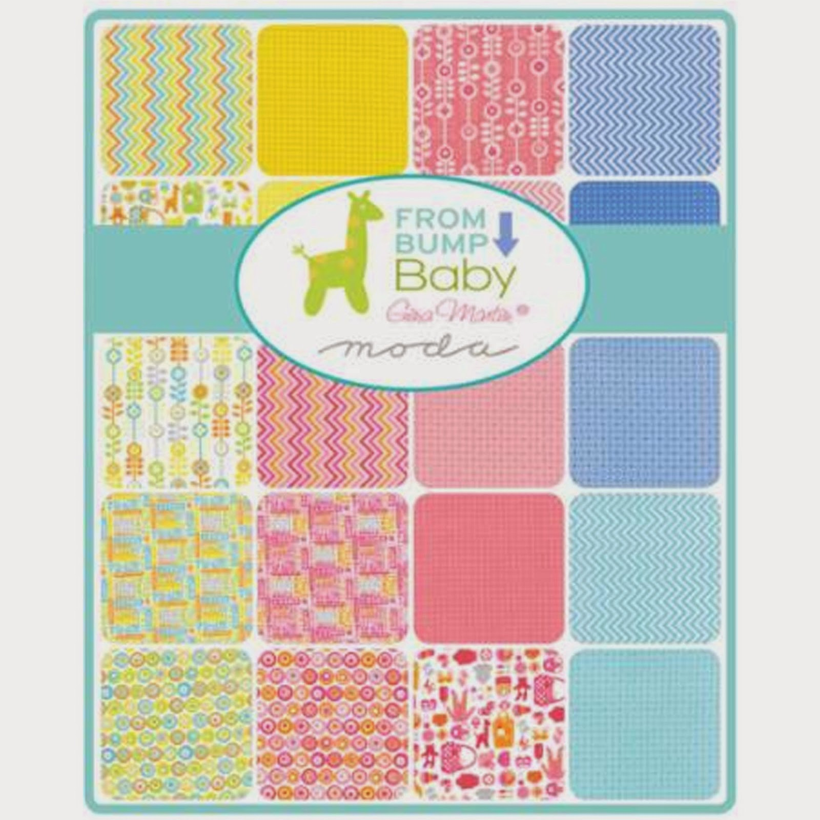 Moda FROM BUMP TO BABY Fabric by Gina Martin