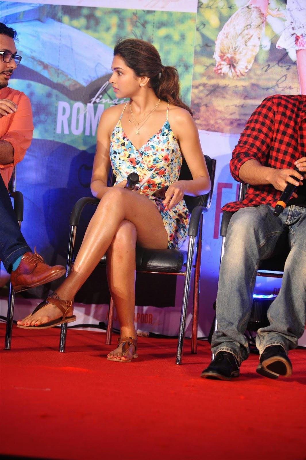 Deepika Padukone crossed legs