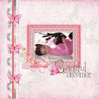 Beautiful Dreamer Digital Scrapbook Quickpage with Photo