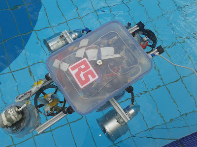 Underwater vehicle with a Pi brain