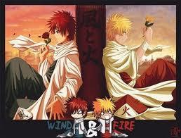Gaara y Naruto-Ambos hokage