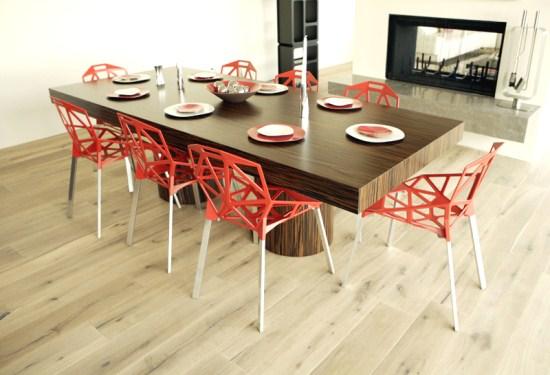 Dise o y decoraci n de la casa la mesa de comedor moderna for Disenos de mesas de comedor modernas