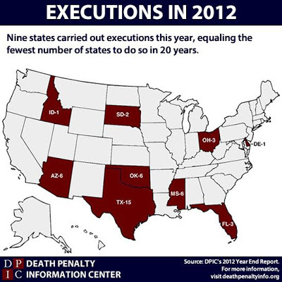 USA: Executions in 2012
