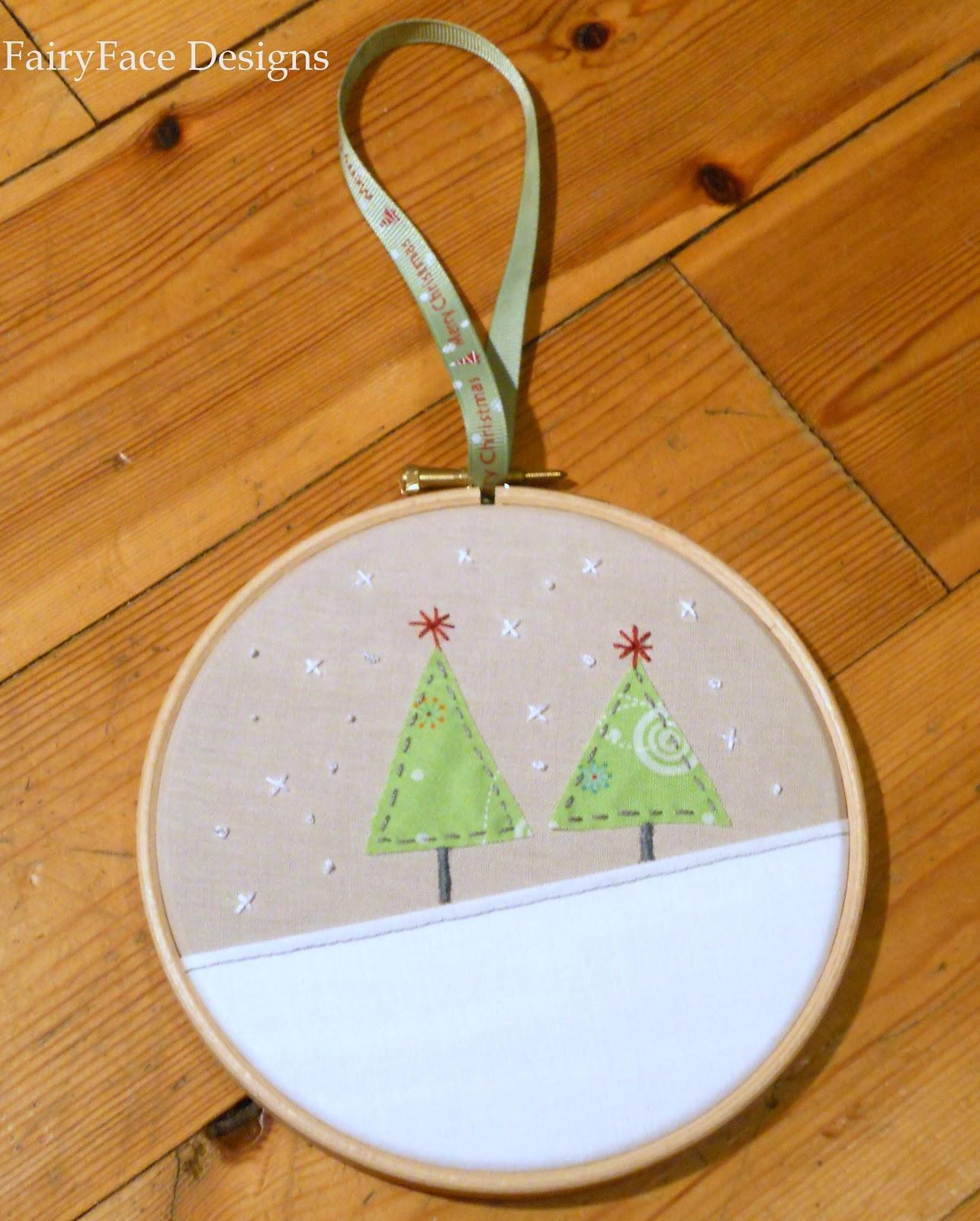 Christmas Trees Hoop Ornament