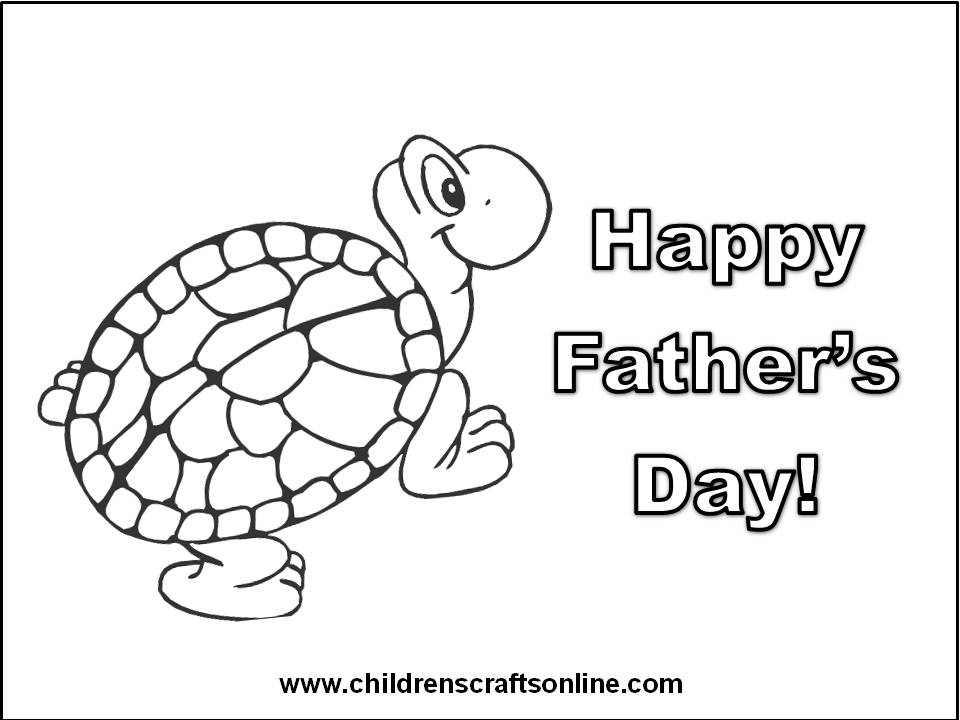 fathers day card coloring pages - photo#30