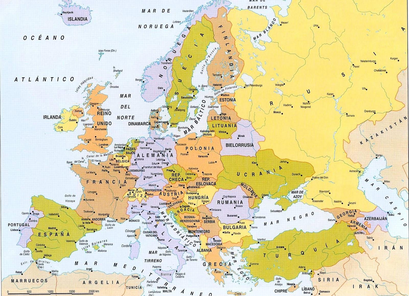 Clase de Diver Capitales europeas