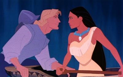 Cartoon John Smith and Pocahontas