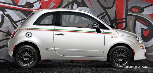Fiat 500 with side stripe package