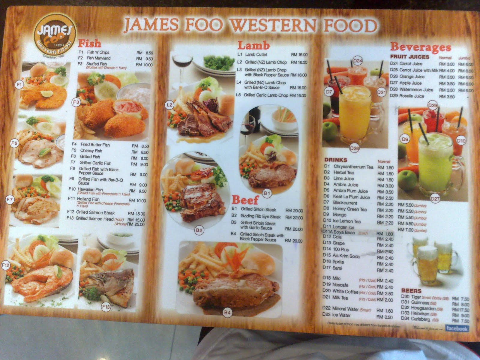 It 39 s about food july 2010 for X cuisine miri menu