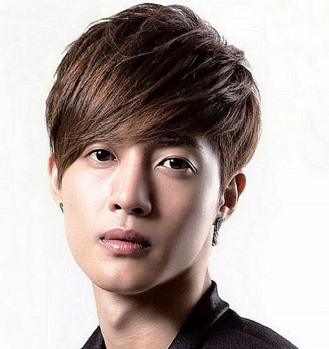 Korean Hairstyle for men medium hair with Bangs