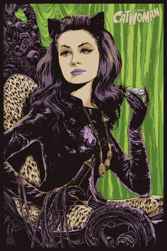 "Batman '66 ""Catwoman"" Variant Screen Print by Ken Taylor"
