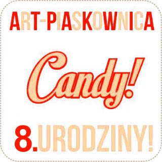 Urodzinowe candy Art Piaskownicy