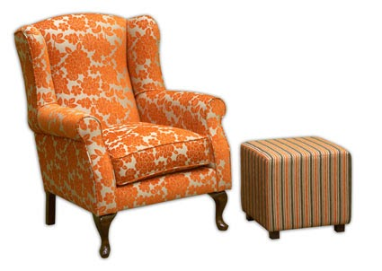 Fabric Maven: How to Reupholster a Wingback Chair