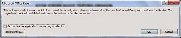 Cara Convert File Office 97-2003 ke Office 2007