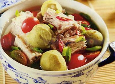 Cách nấu món Sườn sụn nấu chua ngon