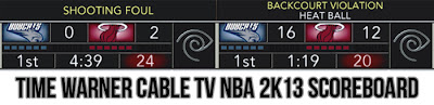 NBA 2K13 Time Warner Cable TV Scoreboard Mod v2.0