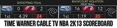 NBA 2K13 Time Warner Cable TV Scoreboard Mod v2.0