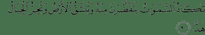 Surat Maryam Ayat 90