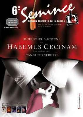cartel de semince basado en la película inaugural de la SEMINCI Valladolid Habemus Papam de Nanni Moretti
