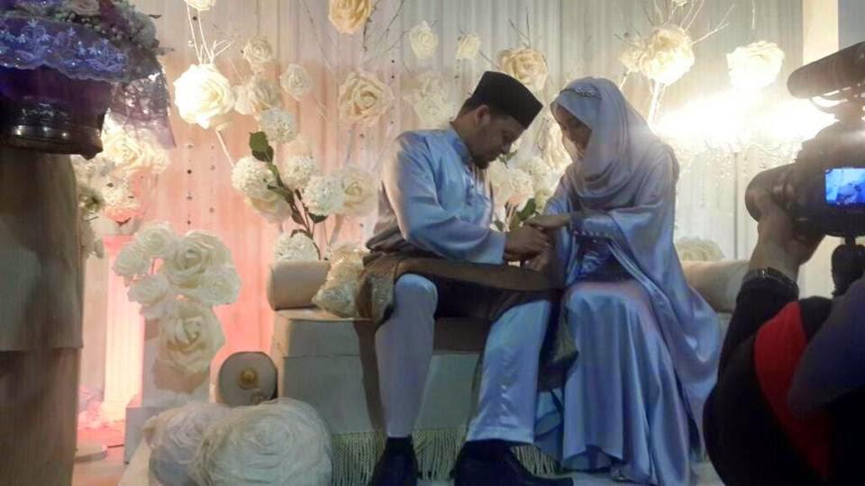 Gambar Penikahan Aliff Omar Anak Allahyarham Datuk Sharifah Aini