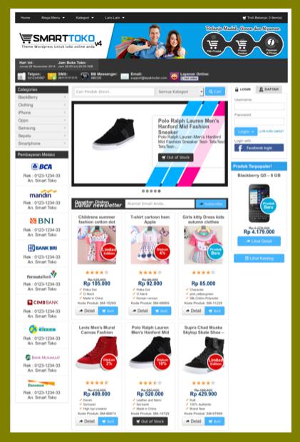 Template toko online cms