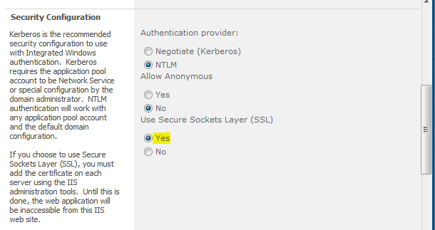 Enable SSL in Sharepoint 2010