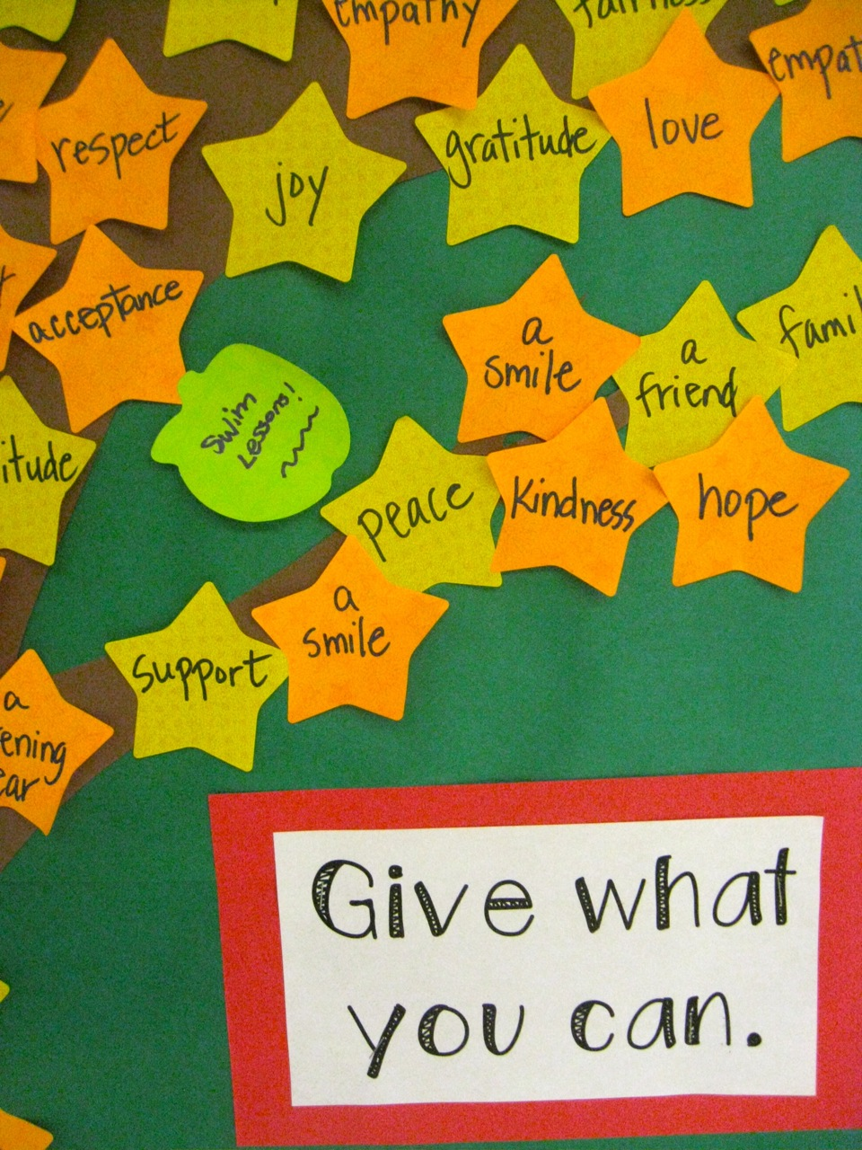 Classroom Giving Tree Ideas ~ The corner on character giving tree