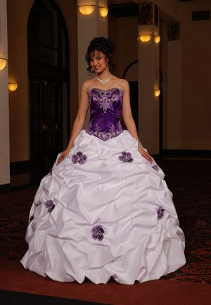 Wedding by designs purple and white wedding dress for White wedding dress with lavender