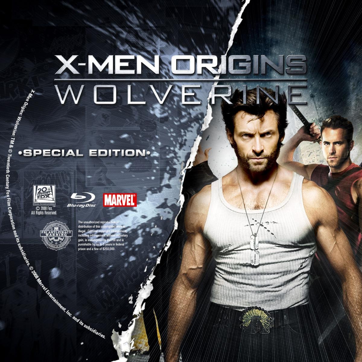 Label Bluray X-Men Origins Wolverine