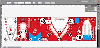 Suzuki GSXR vinyl template Illustrator