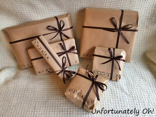cheap giftwrap idea
