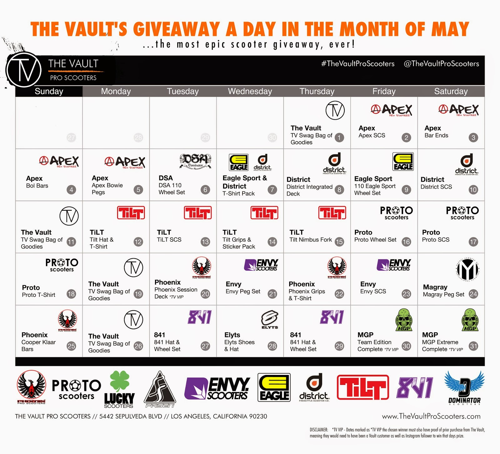 The vault scooters coupons